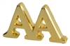 Gold Plated AA Letters Lapel Pin