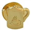 Gold Plated - Welcome Coffee Pot Lapel Pin