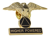 Higher Powered Eagle with AA Logo Lapel Pin