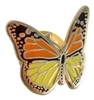 Multi-Color Gold Plated Butterfly Lapel Pin
