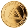 AA Eternity Goldine Recovery Medallion