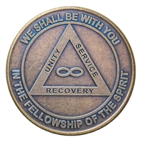 AA Eternity Bronze Recovery Medallion
