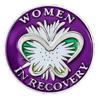 Women in Recovery Butterfly Painted Medallion