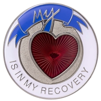 My Heart Is In My Recovery - One Day At A Time Painted Medallion