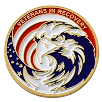 Veterans in Recovery Painted Medallion