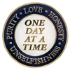 AA FOUR ABSOLUTES SPECIAL INSPIRATION MEDALLION - HONESTY, UNSELFISHNESS, PURITY, AND LOVE