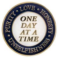 AA Four Absolutes Inspiration Medallion - HONESTY, UNSELFISHNESS, PURITY, AND LOVE