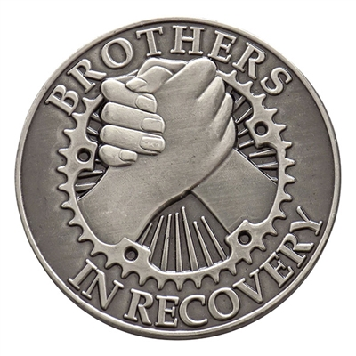 Brothers in Recovery Brushed Nickel Coin
