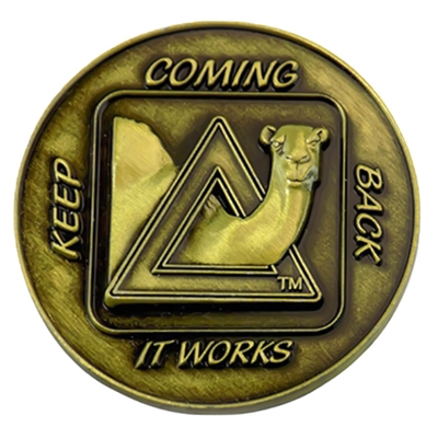 Keep Coming Back Camel Coin with Bronze Antique Finish