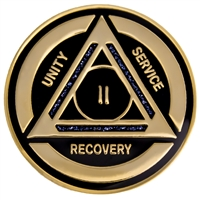 Purple-Black Diamond Recovery Anniversary Medallion