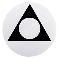 "Black on White 3"" Sticker Al-Anon Triangle-Circle Logo"
