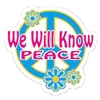 We Will Know Peace Die Cut Sticker - AA Promise