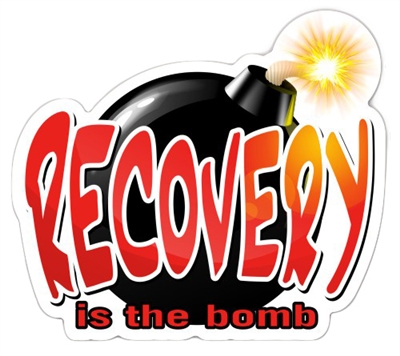 Recovery is the Bomb Die Cut Sticker