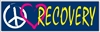 "Blue and yellow - Live and Let Live - 8"" x 2.4"" Bumper Sticker"