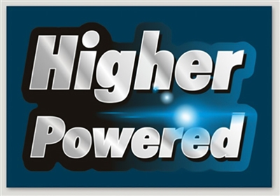 "4.4"" x 3"" Midnight Blue Higher Powered Rectangle Sticker"