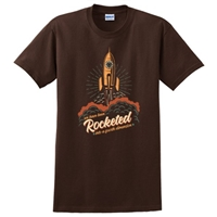We have been Rocketed into a fourth dimension T-Shirt - Color: Brown