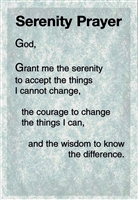 Serenity Prayer - AA - Heavy Paper Verse Card