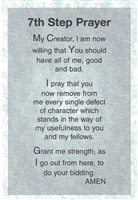 Seventh Step Prayer - AA - Heavy Paper Verse Card