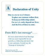 I Am Responsible Statement Bi-Fold Verse Card - AA