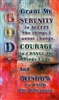 Serenity Prayer Verse Card on a colorful abstract background