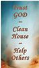 Trust God Clean House Help Others Verse Card