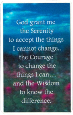 Serenity Prayer Heavily Laminated Wallet-Verse Card
