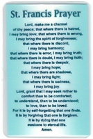 St Francis and Serenity Prayer Verse Card