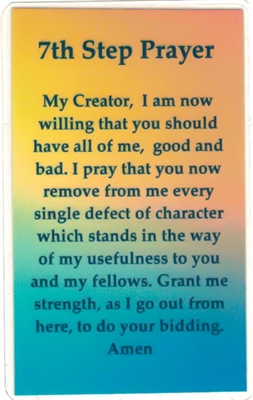3rd/7th Step Prayer Verse Card