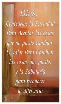 Spanish Serenity Prayer Verse Card