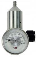 REGULATOR 5/8 UNF 0.5 LPM NICKEL PLATED BRASS BLACK KNOB 44L/58L/105L BOTTLES