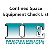 Confined Space Equipment Check List