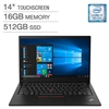 "Lenovo X1 Carbon 7th Generation Ultrabook: Core i7-8565U, 16GB RAM, 512GB SSD, 14"" Full HD Touch Display - 20QD0000US"