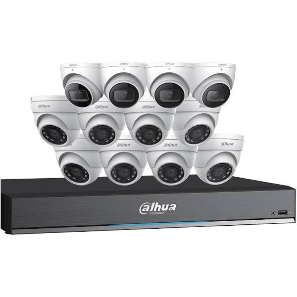 Dahua C7168E124 4K HDCVI Security System (4 x 4K Eyeball+ 8 x 5MP Eyeball + DVR) - C7168E124