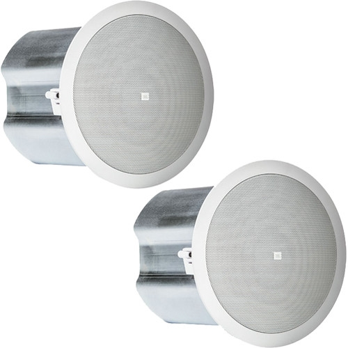 "JBL Control 16C/T 2-Way 6.5"" Coaxial Ceiling Loudspeakers (Pair, White) - CONTROL16CT"