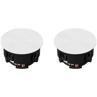 "Sonos - 6-1/2"" Passive 2-Way In-Ceiling Speakers (Pair) White - INCLGWW1"
