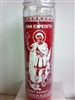 SAINT EXPEDITE SEVEN DAY UNSCENTED CANDLE IN GLASS (SAN EXPEDITO VELA)