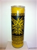 THE CROSS OF CARAVACA SEVEN DAY CANDLE IN GLASS UNSCENTED ( LA CRUZ DE CARAVACA )