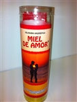 MIEL DE AMOR PREPARED SEVEN DAYCANDLE ( HONEY OF LOVE CANDLE )