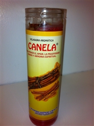 CANELA PREPARED SEVEN DAY CANDLE ( CINNAMON CANDLE )