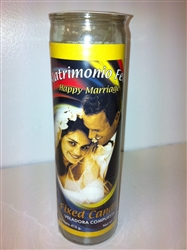 MATRMONIO FELIZ PREPARED SEVEN DAY CANDLE ( HAPPY MARRIAGE CANDLE )