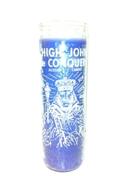 HIGH JOHN THE CONQUEROR SEVEN DAY CANDLE IN GLASS