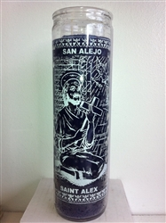 SAINT ALEJO SEVEN DAY CANDLE IN GLASS ( A SAN ALEJO CANDLE )