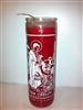SAINT CARLOS BORROMEO SEVEN DAY CANDLE IN GLASS (  SAN CARLOS BORROMEO CANDLE )