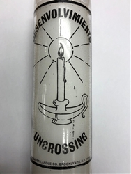 UNCROSSING SEVEN DAY CANDLE ONE COLOR IN GLASS ( DESENVOLVIMIENTO CANDLE )