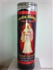SAINTLY DEATH PREPARED SEVEN DAY CANDLE IN GLASS ( SANTA MUERTE )