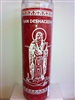 SAINT DESHACEDOR SEVEN DAY UNSCENTED RED CANDLE IN GLASS (SAN DESHACEDOR VELA)