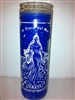 YEMAYA SEVEN DAY CANDLE IN GLASS UNSCENTED