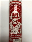 PANCHO VILLA UNSCENTED RED CANDLE IN GLASS (GRAN GENERAL REVOLUCIONARIO)