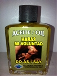 MAGICAL AND DRESSING OIL (ACEITE) 1/2OZ - DO AS I SAY (HARAS MI VOLUNTAD)