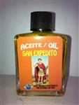 MAGICAL AND DRESSING OIL (ACEITE) 1/2OZ - SAINT EXPEDITE (SAN EXPEDITO)